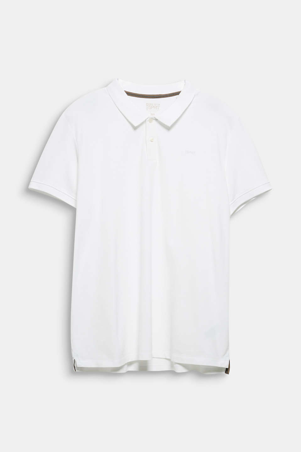 Polo shirt in 100% organic cotton, WHITE, detail image number 5