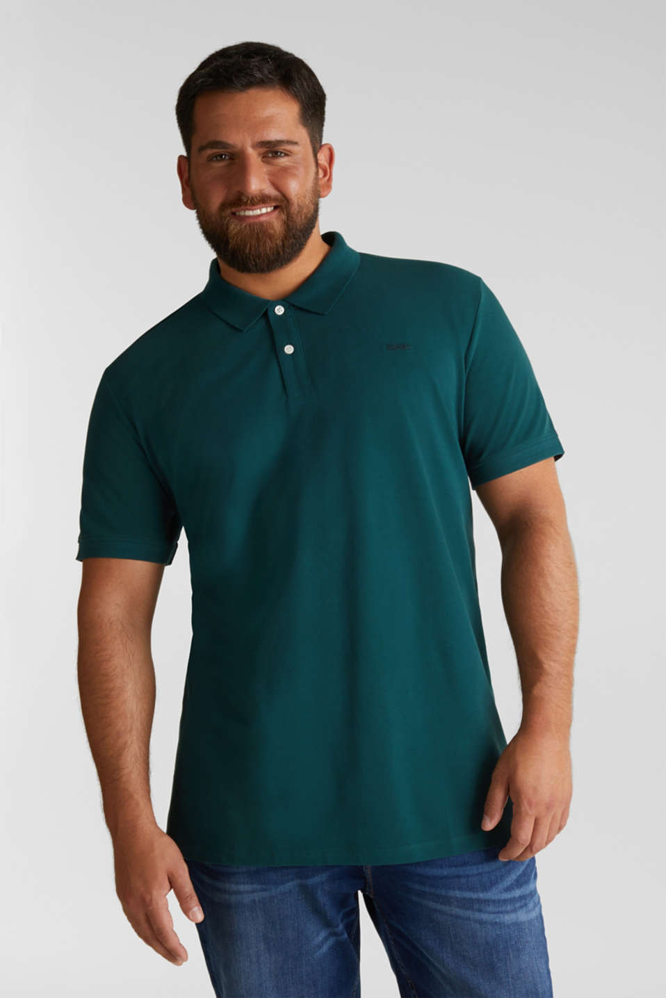 Polo shirt in 100% organic cotton, DARK GREEN, detail image number 0