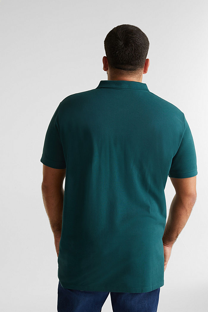 Polo shirt in 100% organic cotton, DARK GREEN, detail image number 3
