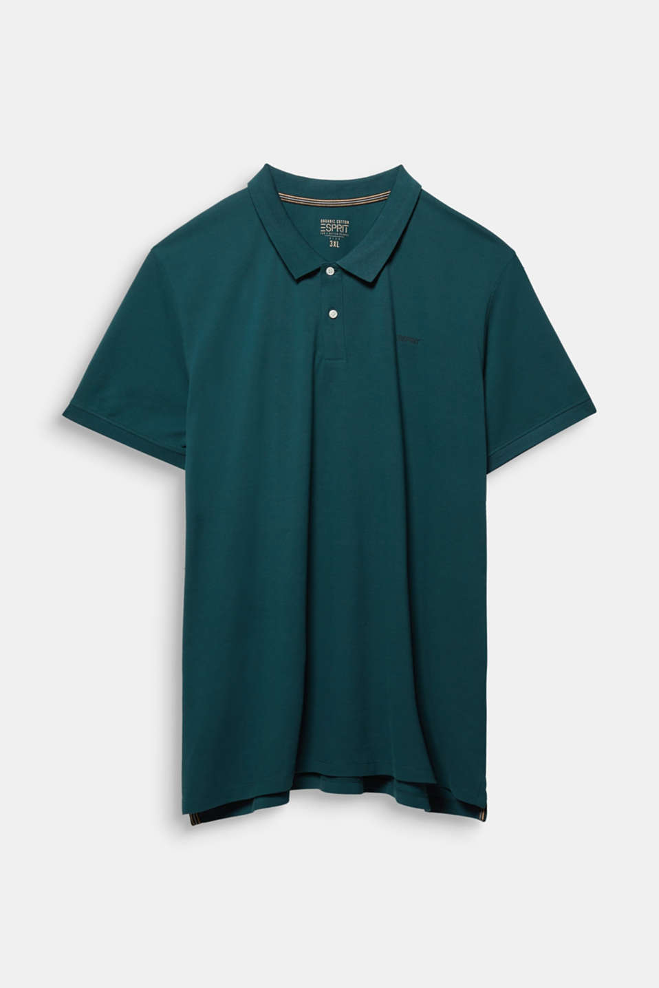 Polo shirt in 100% organic cotton, DARK GREEN, detail image number 5