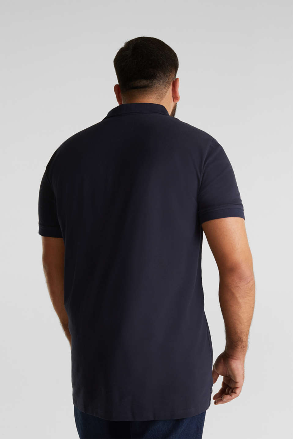 Polo shirt in 100% organic cotton, NAVY, detail image number 3
