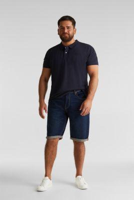 Polo shirt in 100% organic cotton, NAVY, detail
