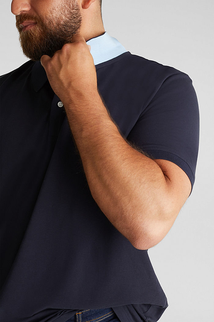 Polo shirt in 100% organic cotton, NAVY, detail image number 1