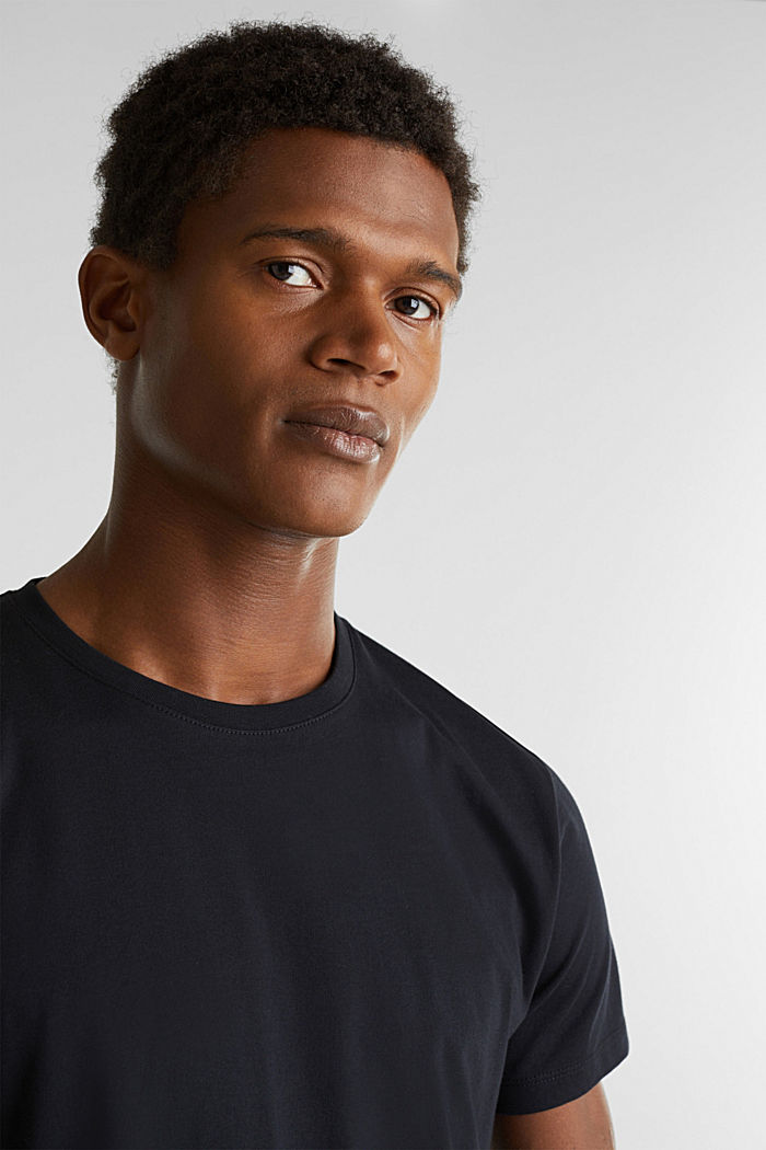 Double pack of jersey cotton tops, BLACK, detail image number 2