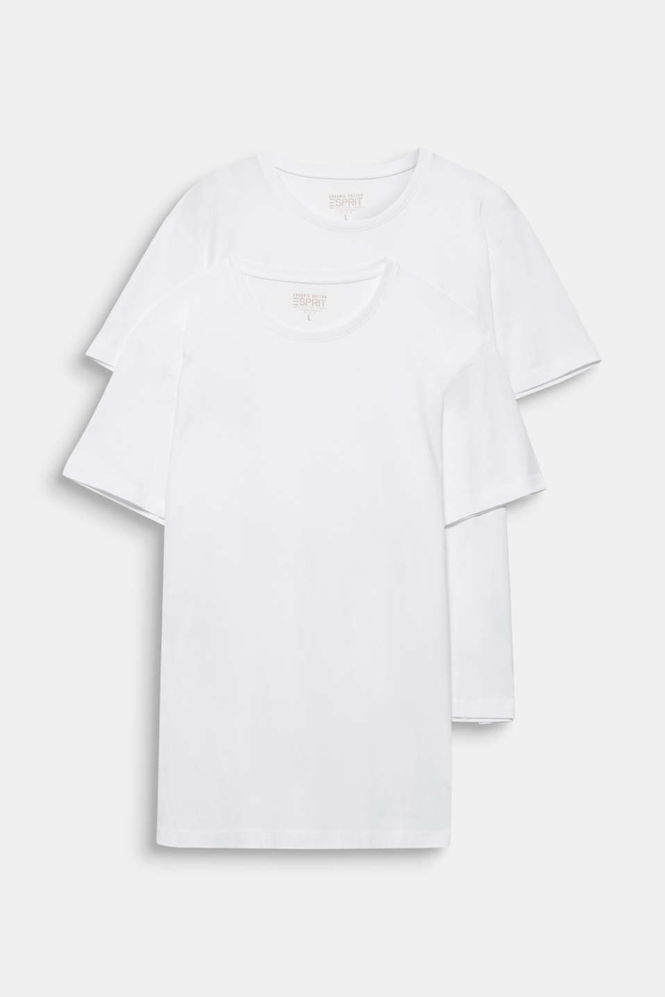 Double pack of jersey cotton tops, WHITE, detail image number 5
