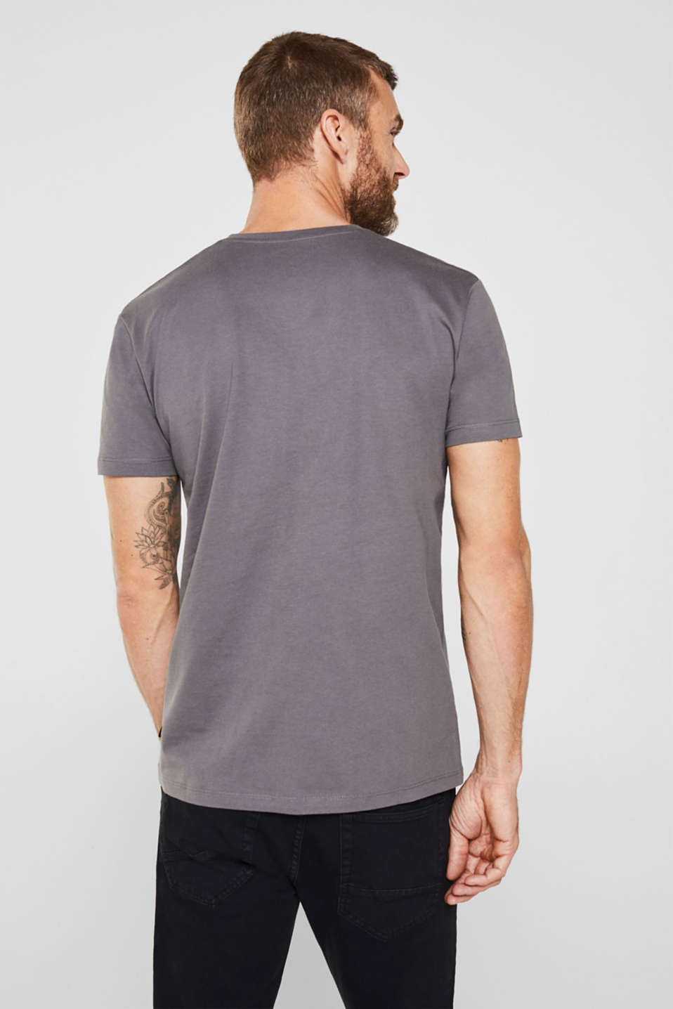 Double pack of jersey T-shirts made of 100% cotton, DARK GREY, detail image number 3