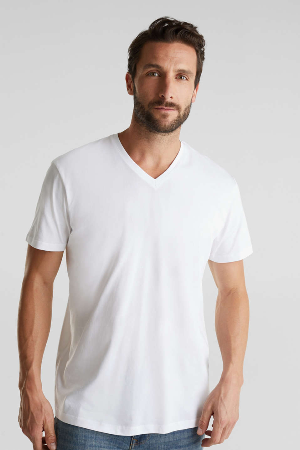Double pack of jersey T-shirts made of 100% cotton, WHITE, detail image number 0