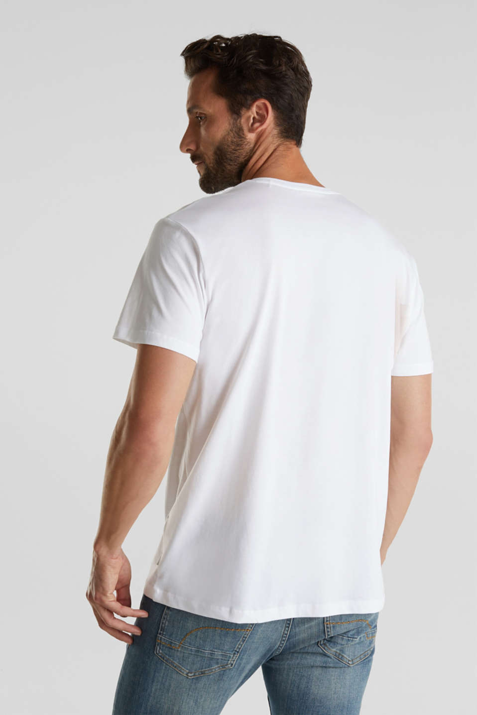 Double pack of jersey T-shirts made of 100% cotton, WHITE, detail image number 3
