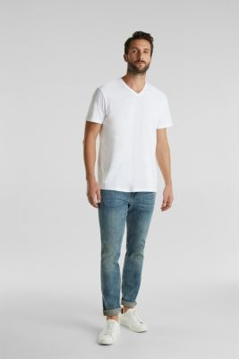 Double pack of jersey T-shirts made of 100% cotton, WHITE, detail