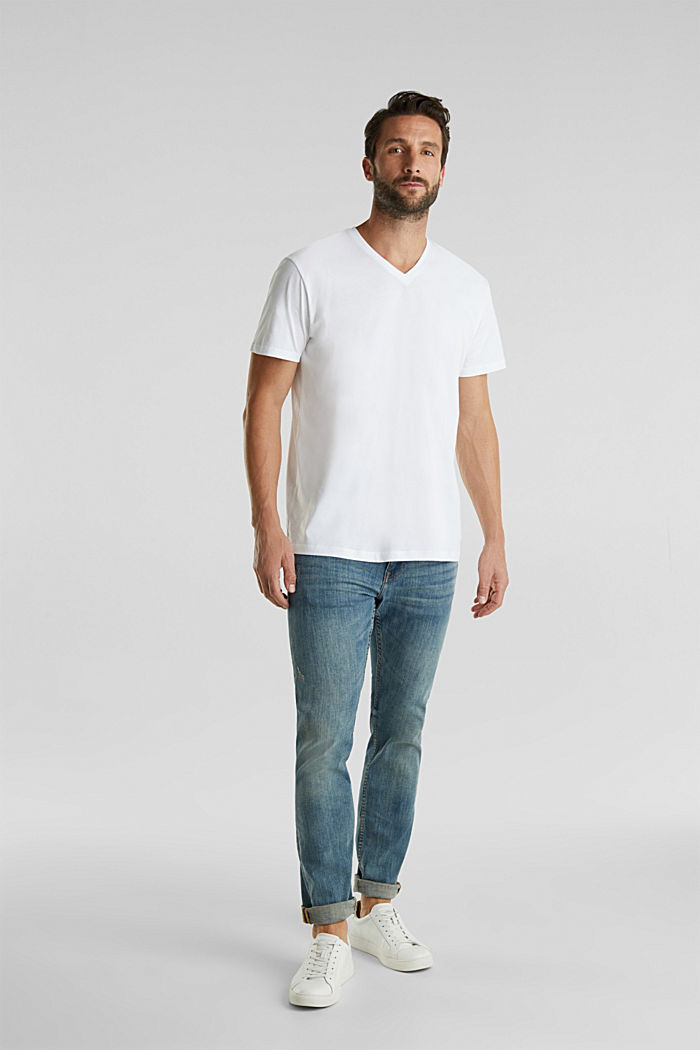 Pack de dos camisetas de jersey en 100% algodón, WHITE, detail image number 0