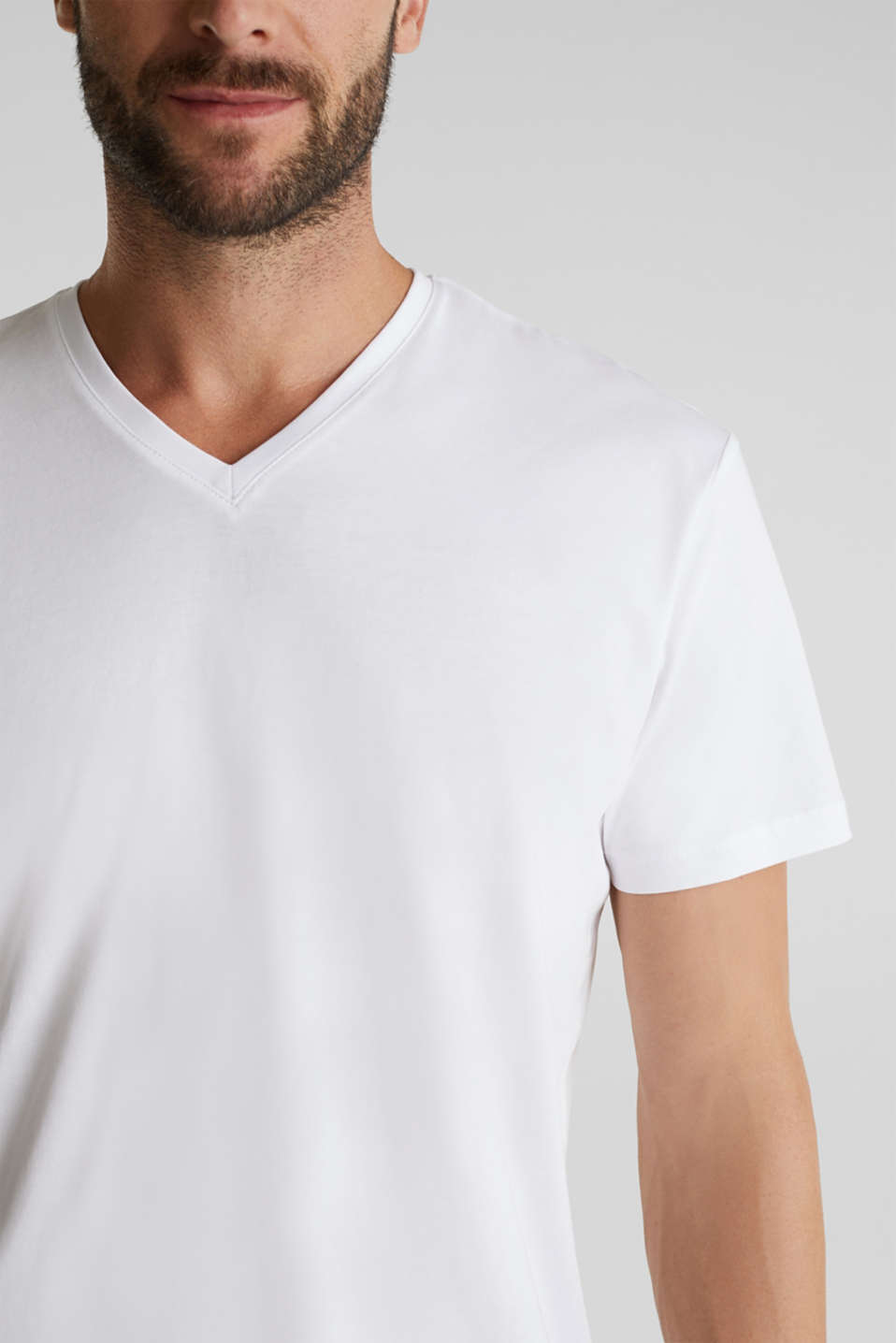 Double pack of jersey T-shirts made of 100% cotton, WHITE, detail image number 2