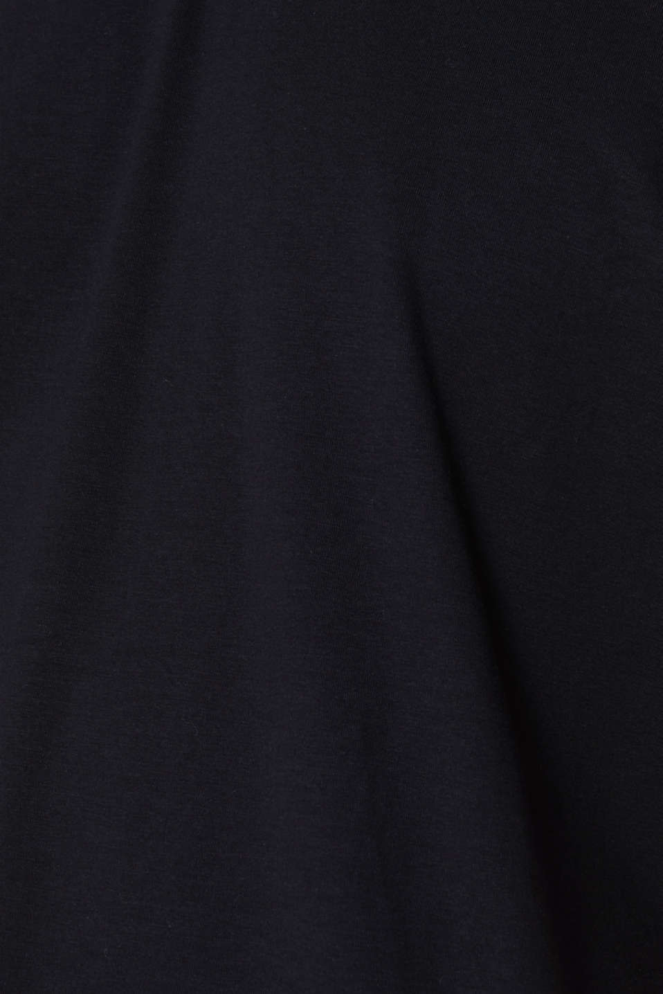 Jersey T-shirt in stretch cotton, BLACK, detail image number 5
