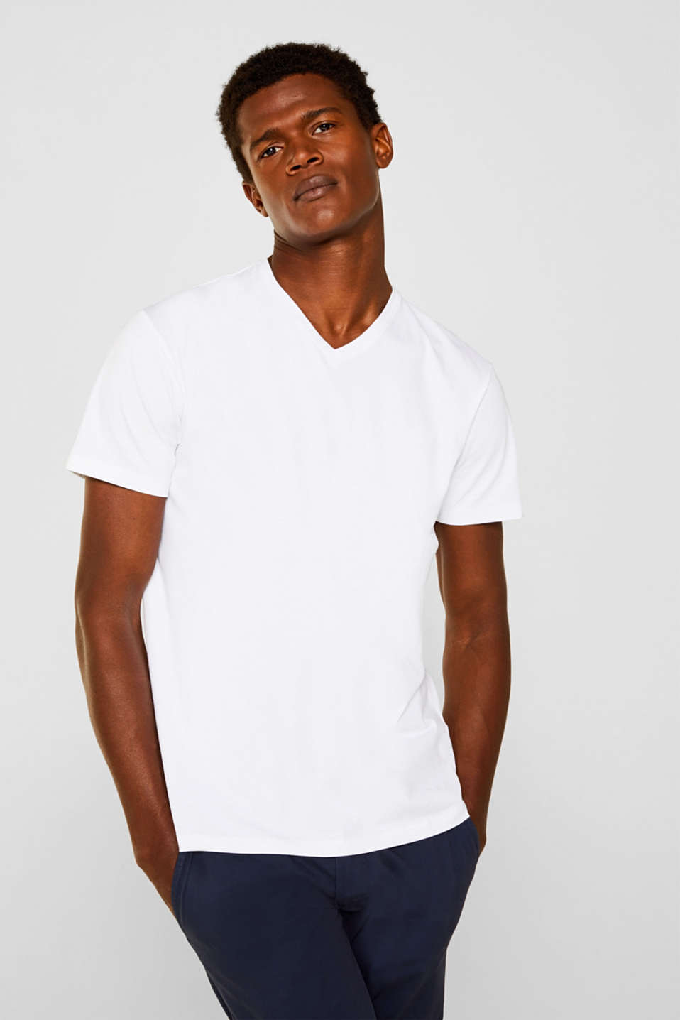 Esprit - Jersey T-shirt in stretch cotton