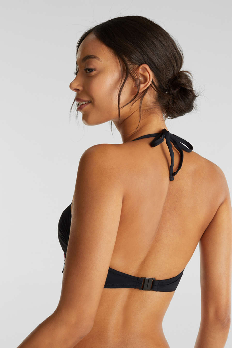 Bandeau top with detachable straps, BLACK, detail image number 1