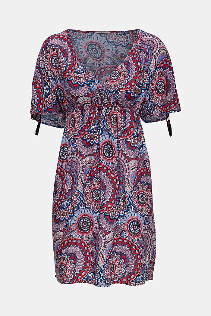 Freizeit-Kleid mit Troddeln, RED, detail image number 2