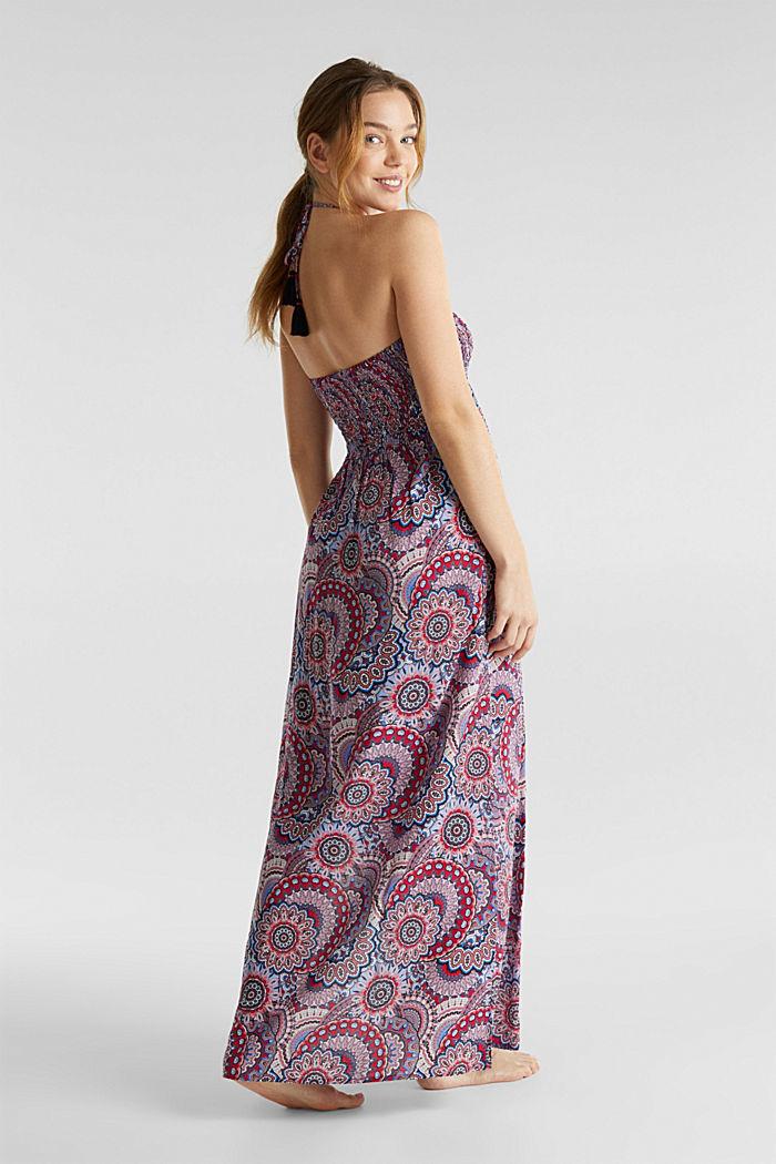 Maxi-jurk met gesmokte bustier, RED, detail image number 1