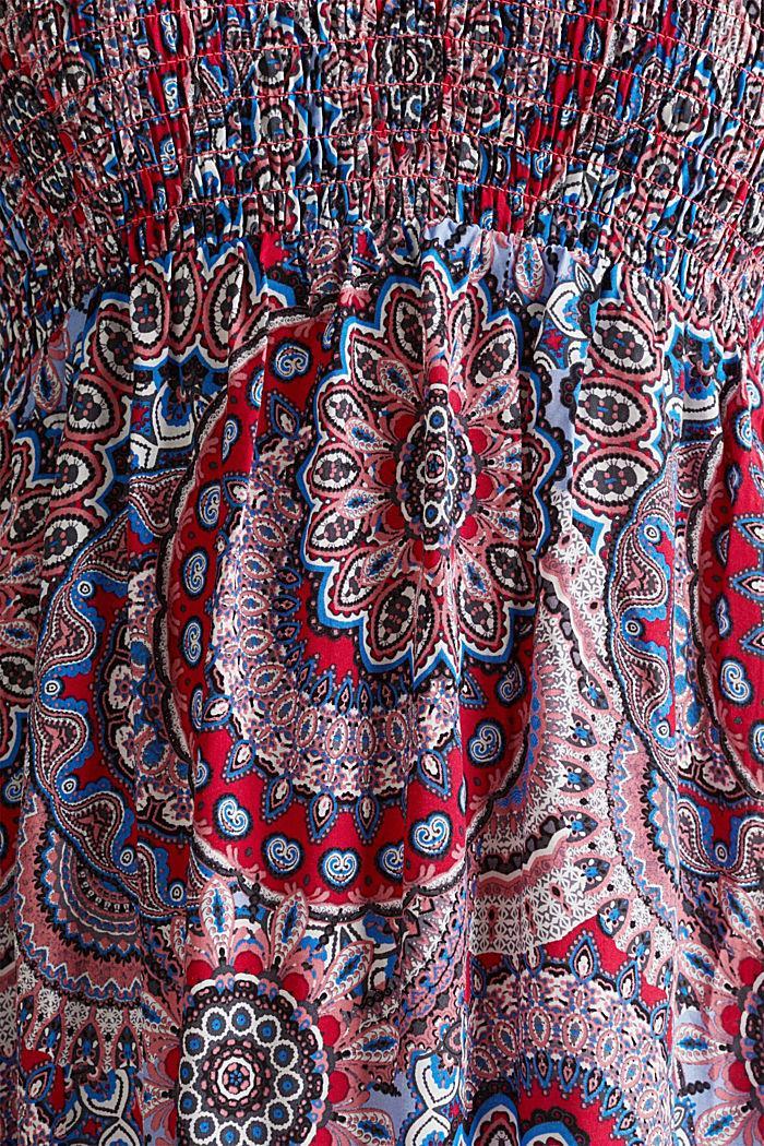 Maxi-jurk met gesmokte bustier, RED, detail image number 3