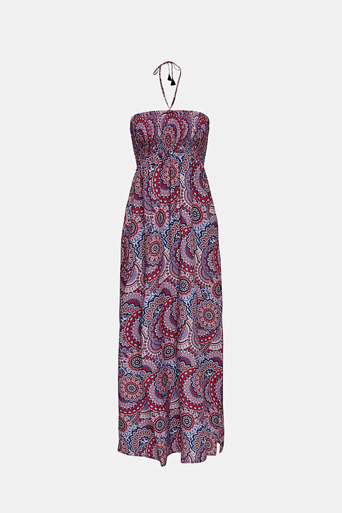 Maxi-jurk met gesmokte bustier, RED, detail image number 2