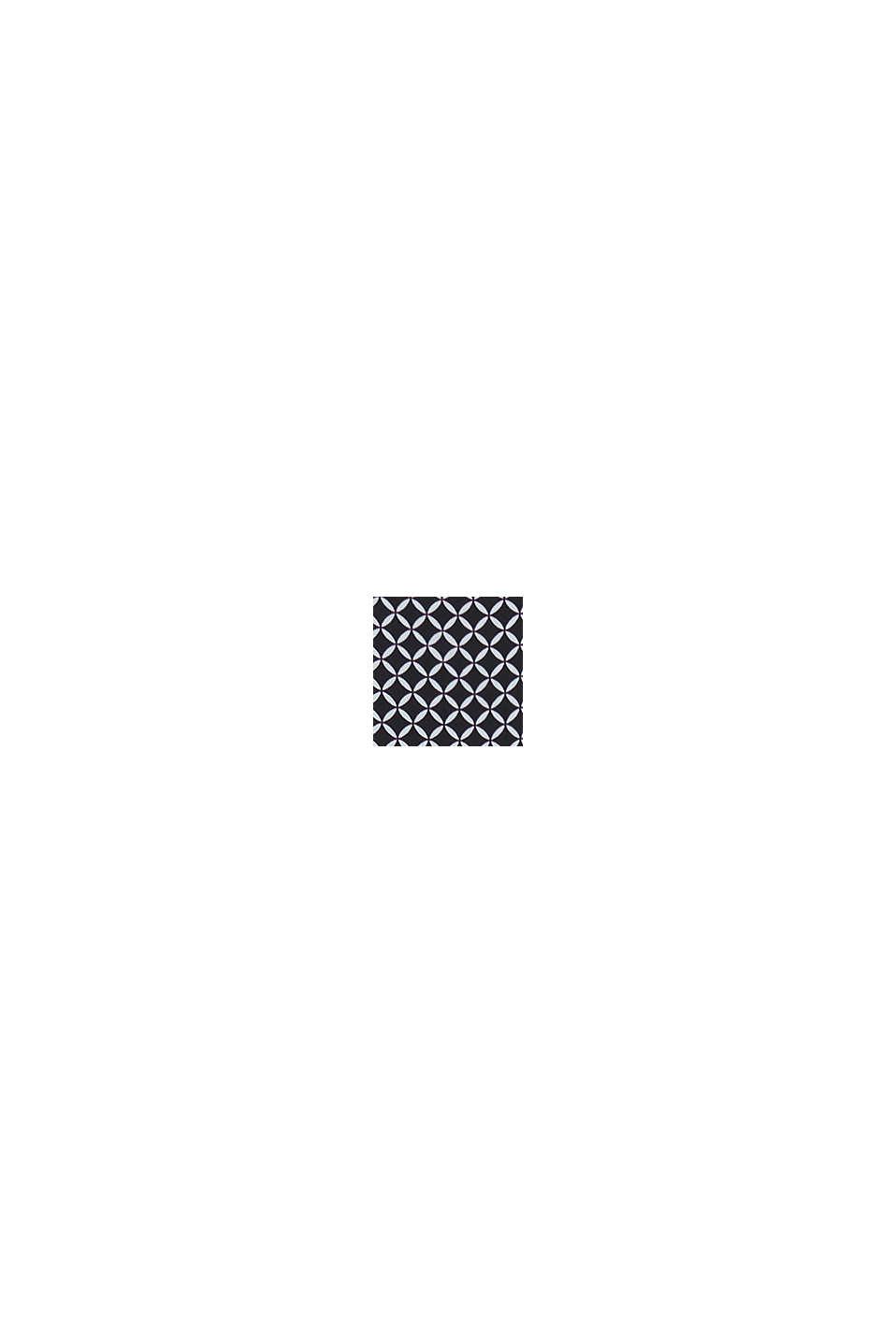 Kombinezon z lamówkami z dziurkowanym wzorem, BLACK, swatch
