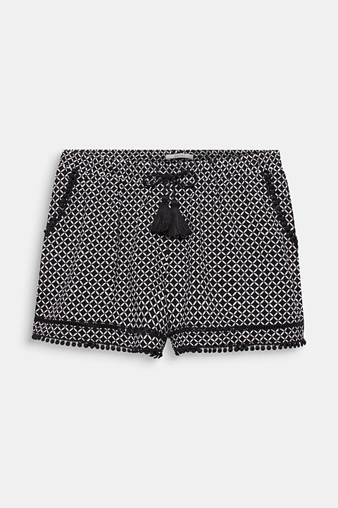 Woven shorts with lace details