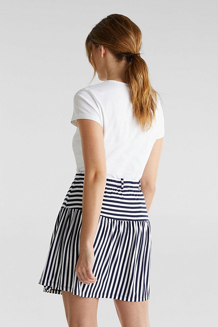 Falda de jersey elástico con cinturón de cordón, WHITE, detail image number 1