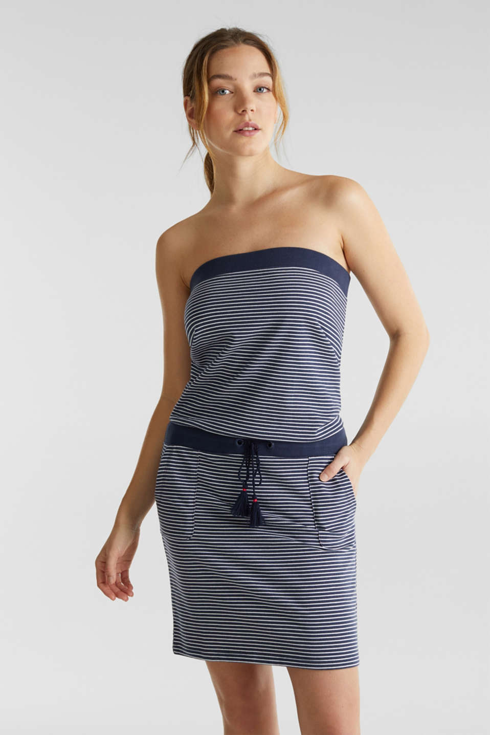 Esprit - Jersey dress in 100% cotton