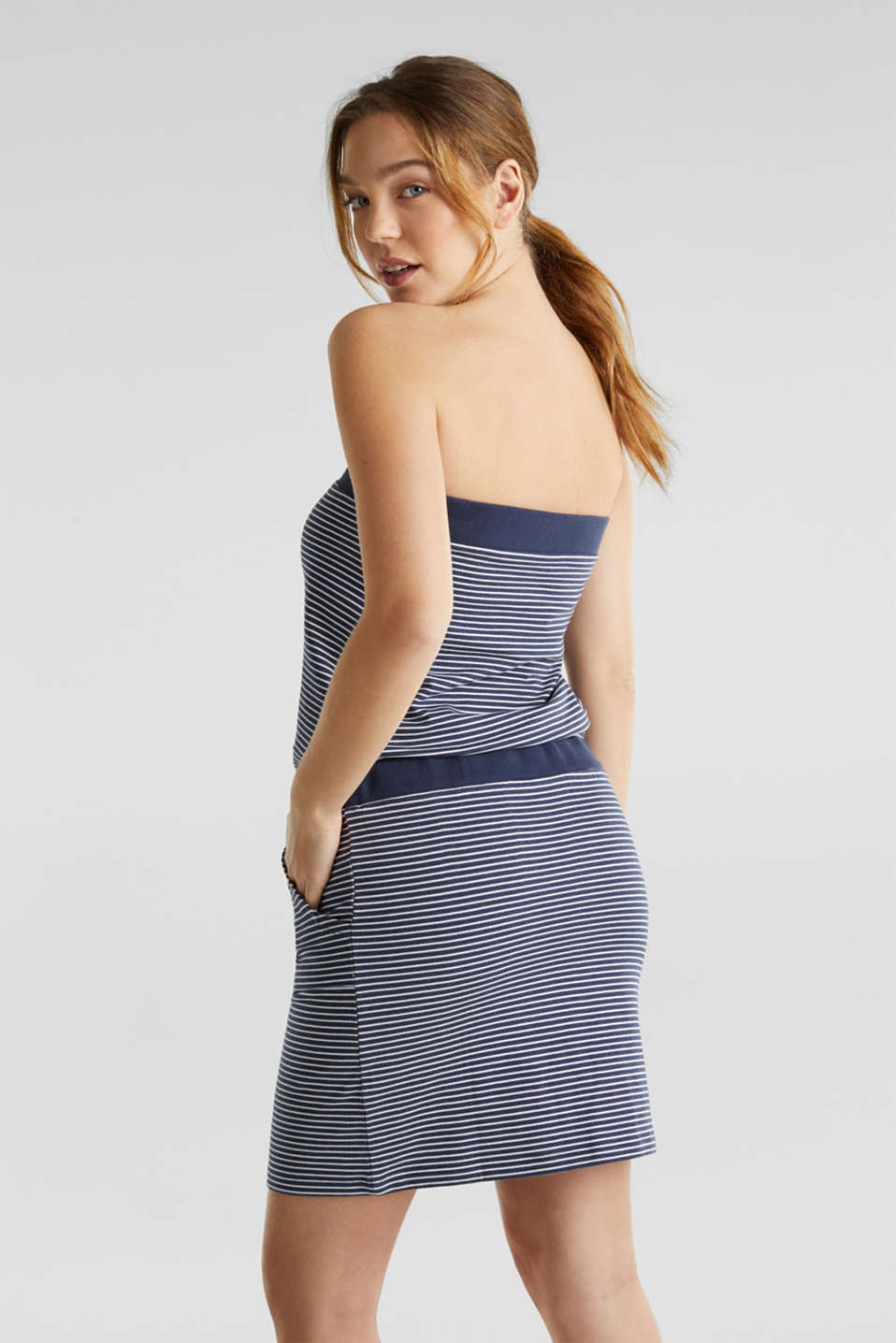 Jersey dress in 100% cotton, NAVY 2, detail image number 1