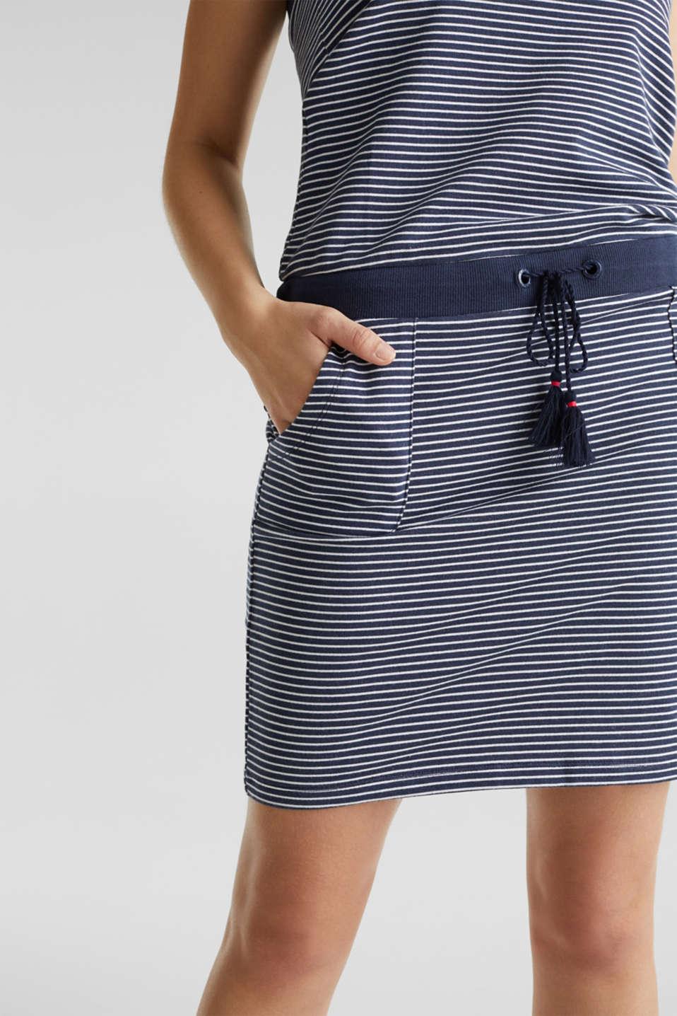 Jersey beach dress, 100% cotton, NAVY 2, detail image number 3