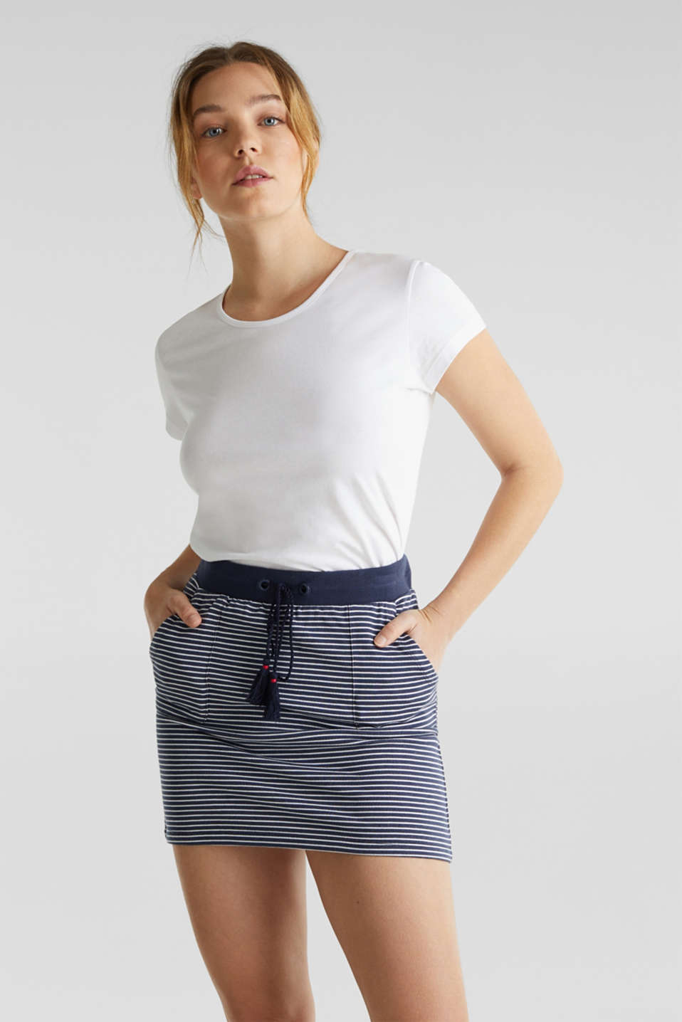 Esprit - Jersey skirt made of 100% cotton