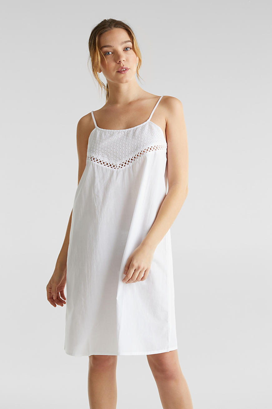 Casual dress with embroidery, 100% cotton