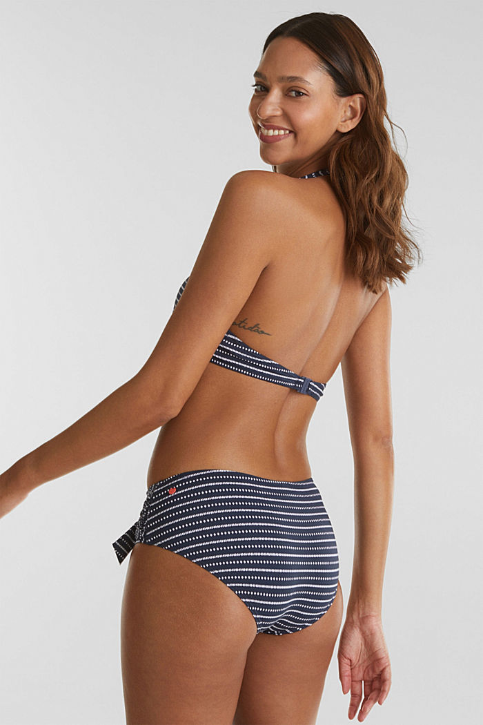Shaping briefs with a decorative bow, NAVY, detail image number 2