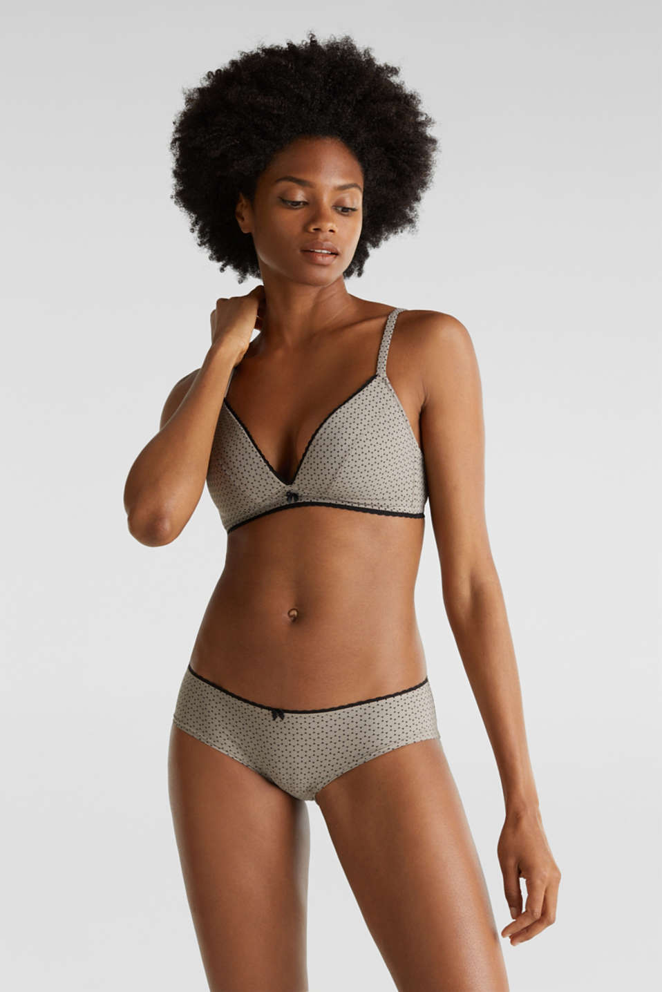 Esprit - Soft bra with a geometric print
