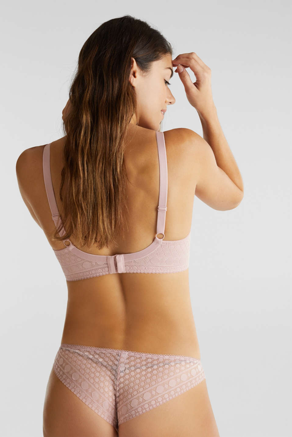 Padded, underwire bra for large cup sizes, OLD PINK, detail image number 1