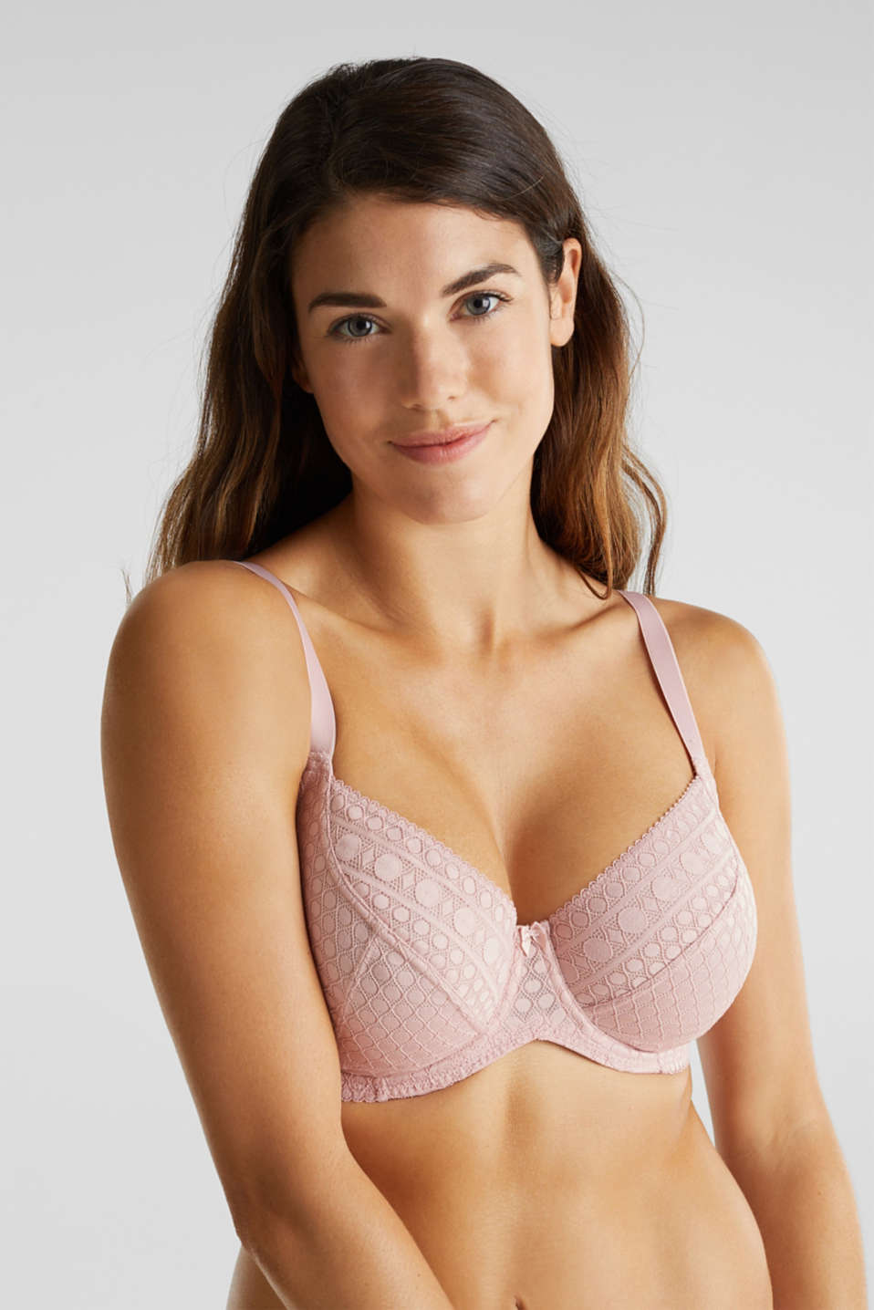 Unpadded underwire bra for larger cup sizes, OLD PINK, detail image number 0