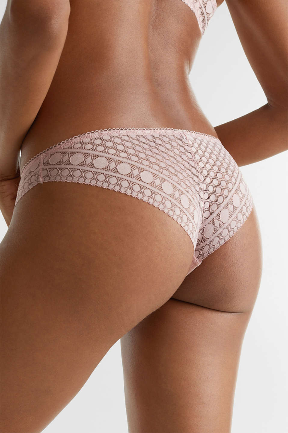 Hipster briefs in geometric lace, OLD PINK, detail image number 3