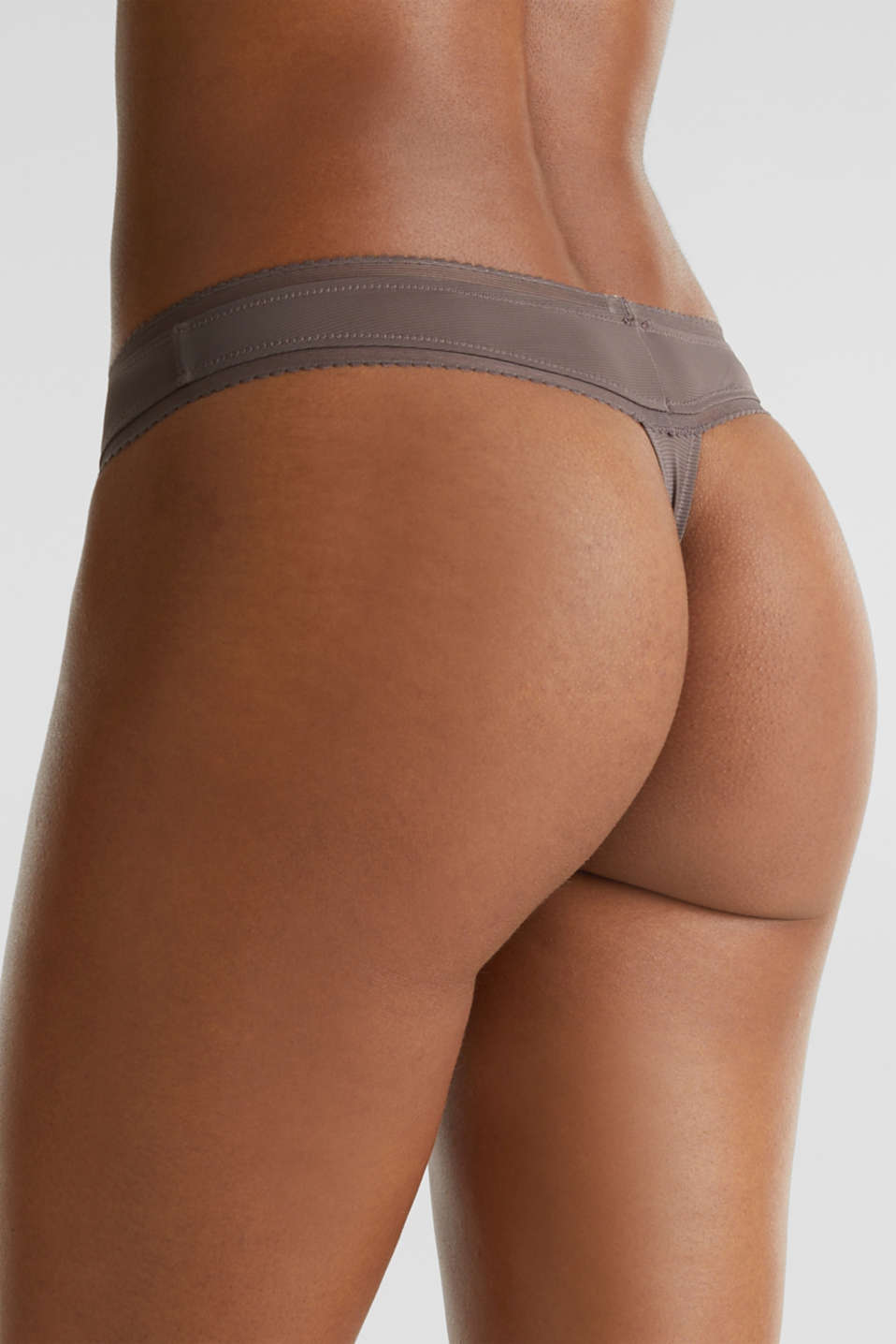 Hipster thong with pinstripes, TAUPE, detail image number 3