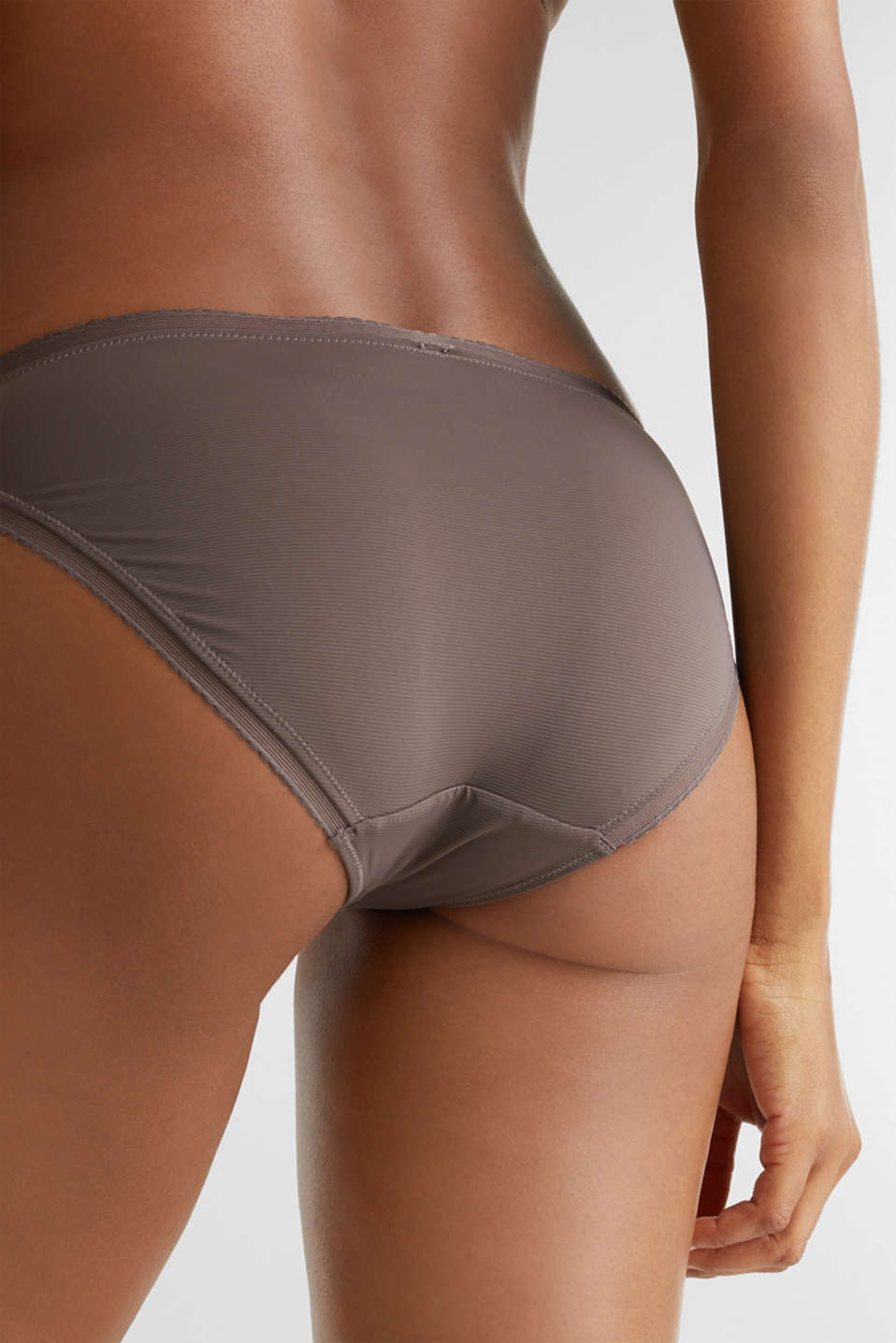 Hipster briefs with pinstripes, TAUPE, detail image number 3