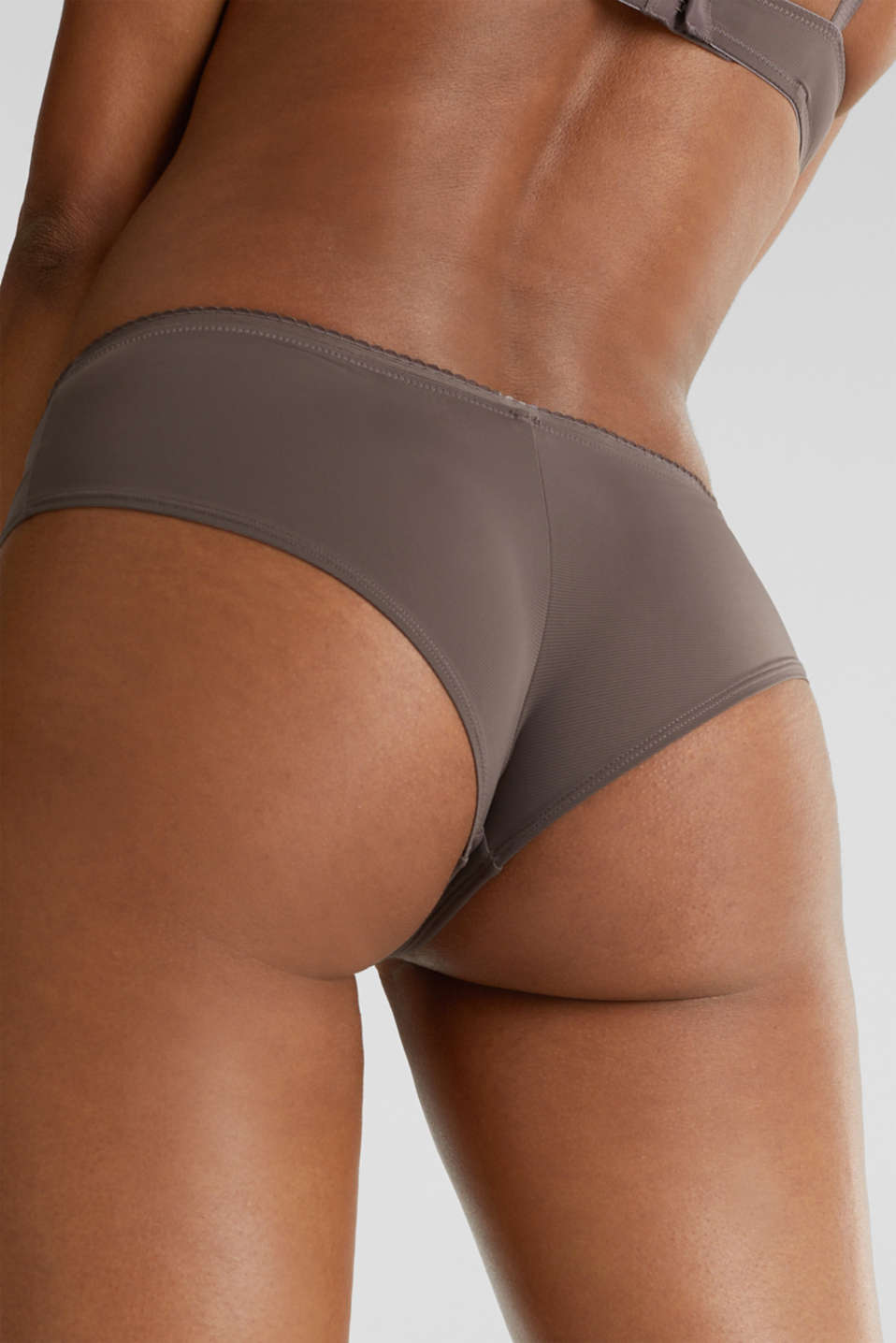 Hipster shorts with pinstripes, TAUPE, detail image number 2