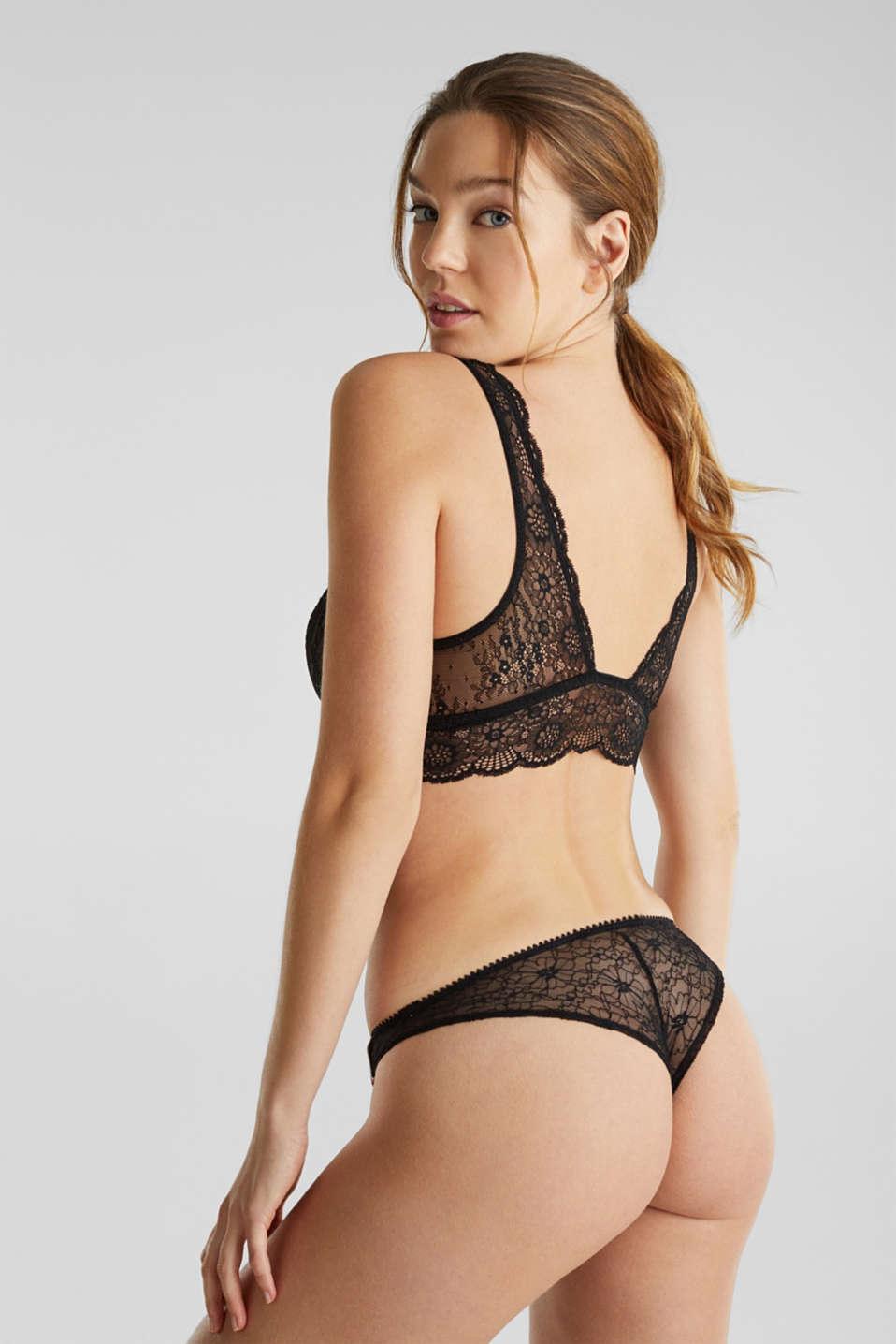 Lavish lace crop top, BLACK, detail image number 1