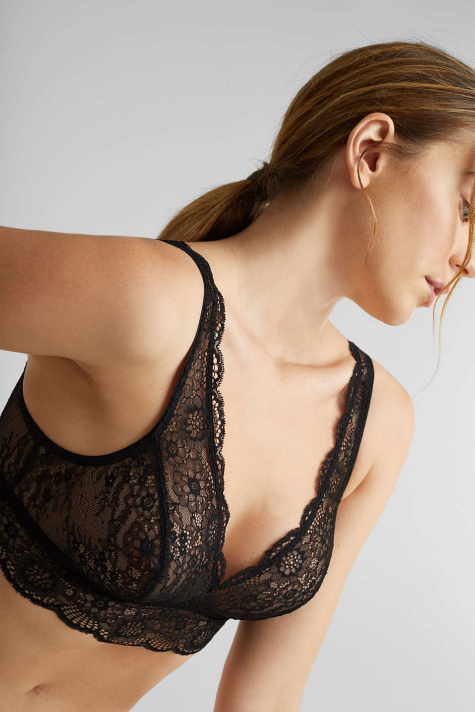 Lavish lace crop top, BLACK, detail image number 2