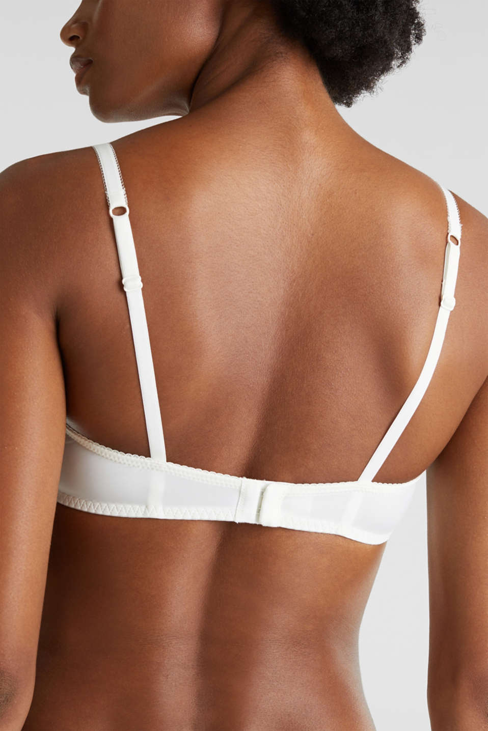 Unpadded, underwire bra made of printed lace, OFF WHITE, detail image number 2