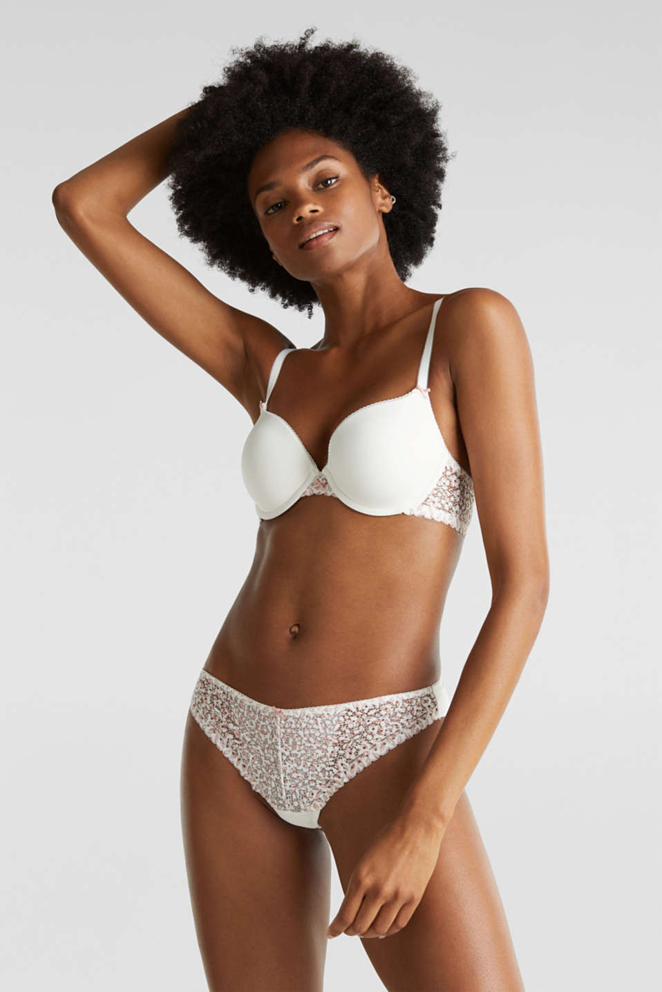 Hipster briefs with printed lace, OFF WHITE, detail image number 0