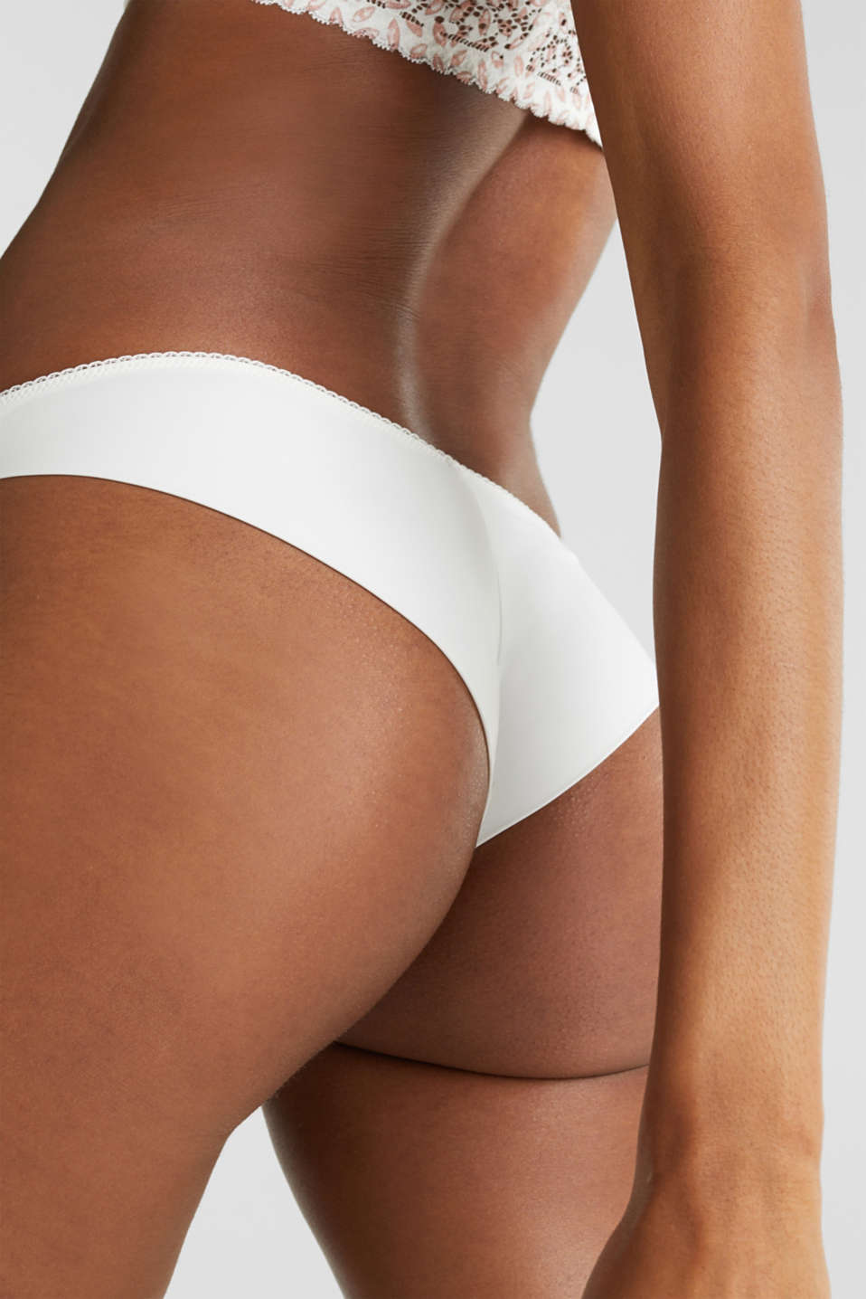 Hipster briefs with printed lace, OFF WHITE, detail image number 3