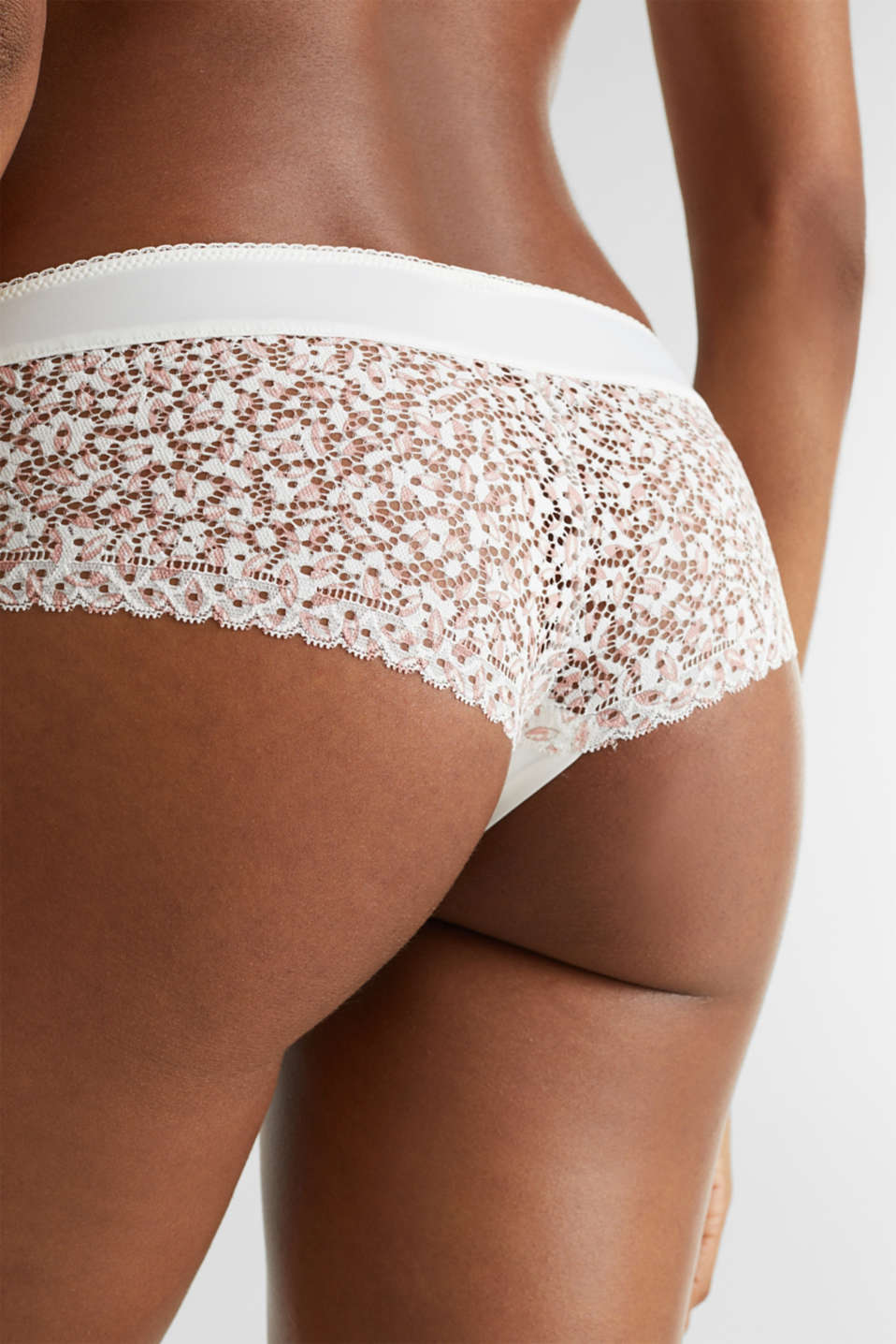 Hipster shorts made of printed lace, OFF WHITE, detail image number 3