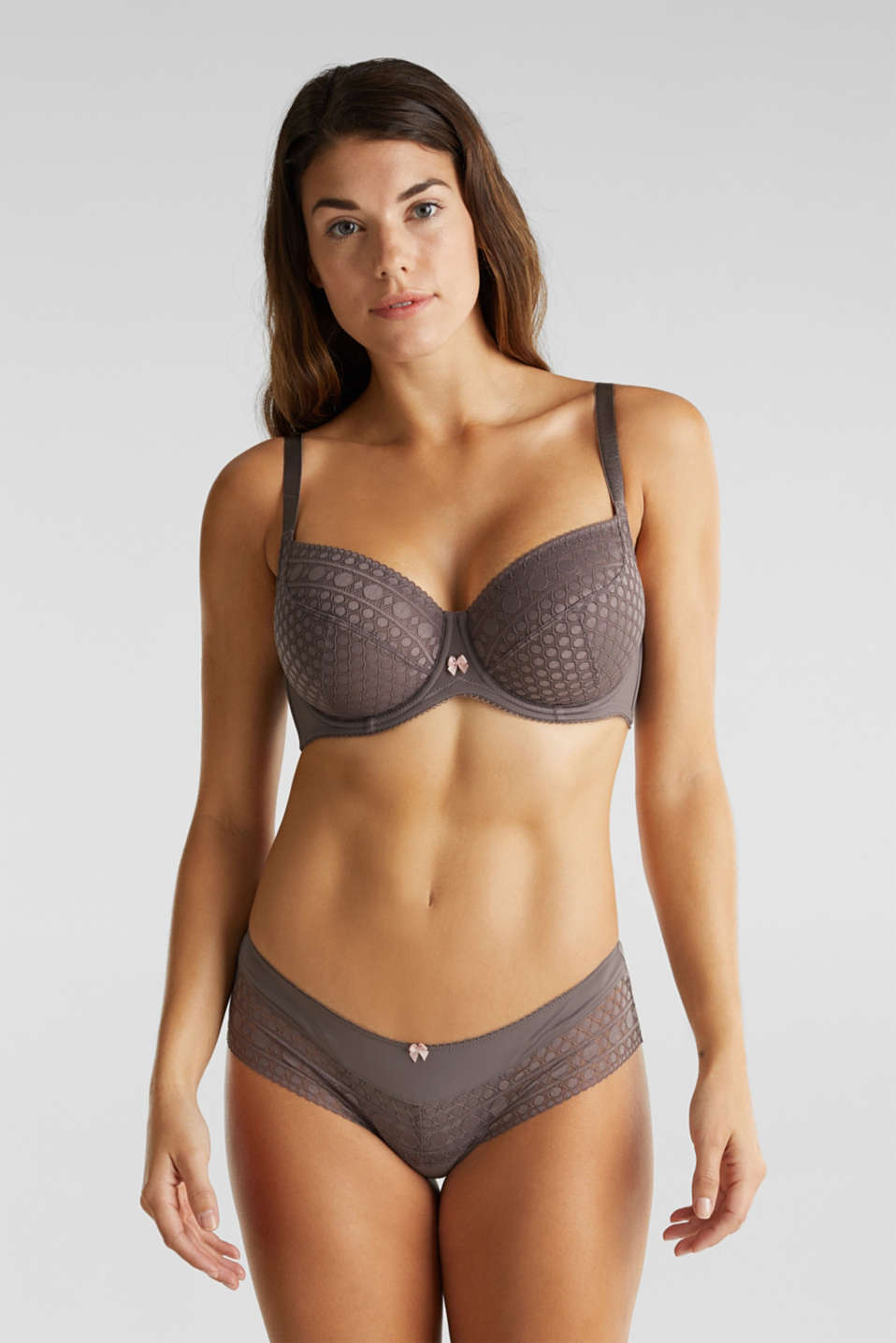 Unpadded underwire bra for larger cup sizes, TAUPE, detail image number 0