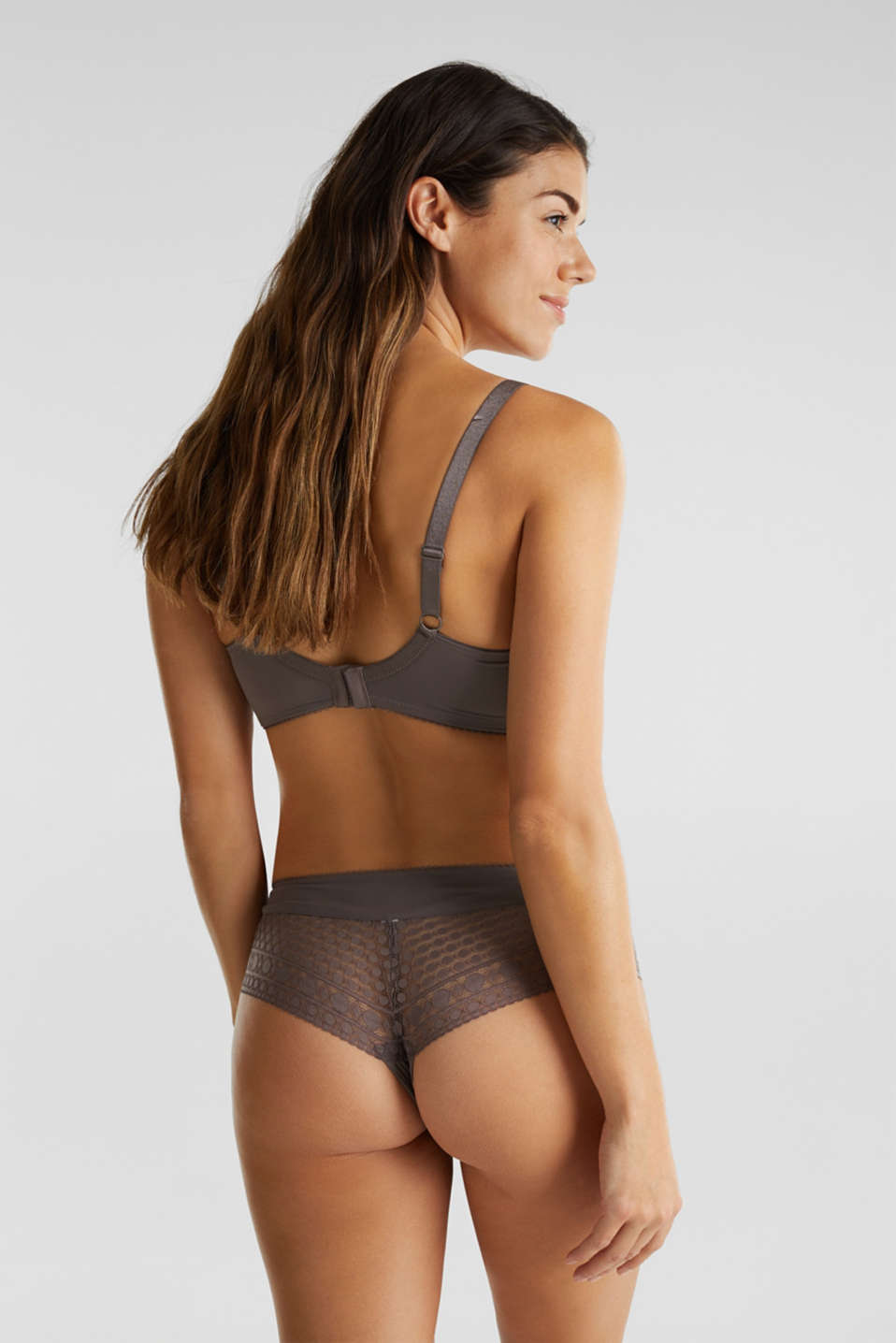 Unpadded underwire bra for larger cup sizes, TAUPE, detail image number 1