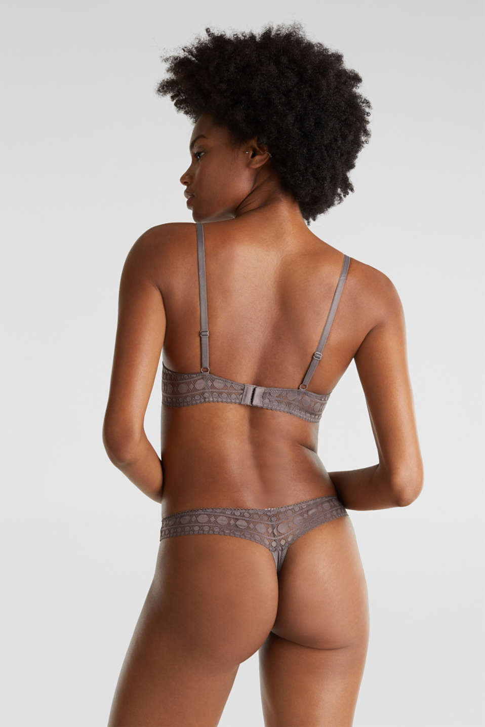 Padded bra with spacer cups, TAUPE, detail image number 1