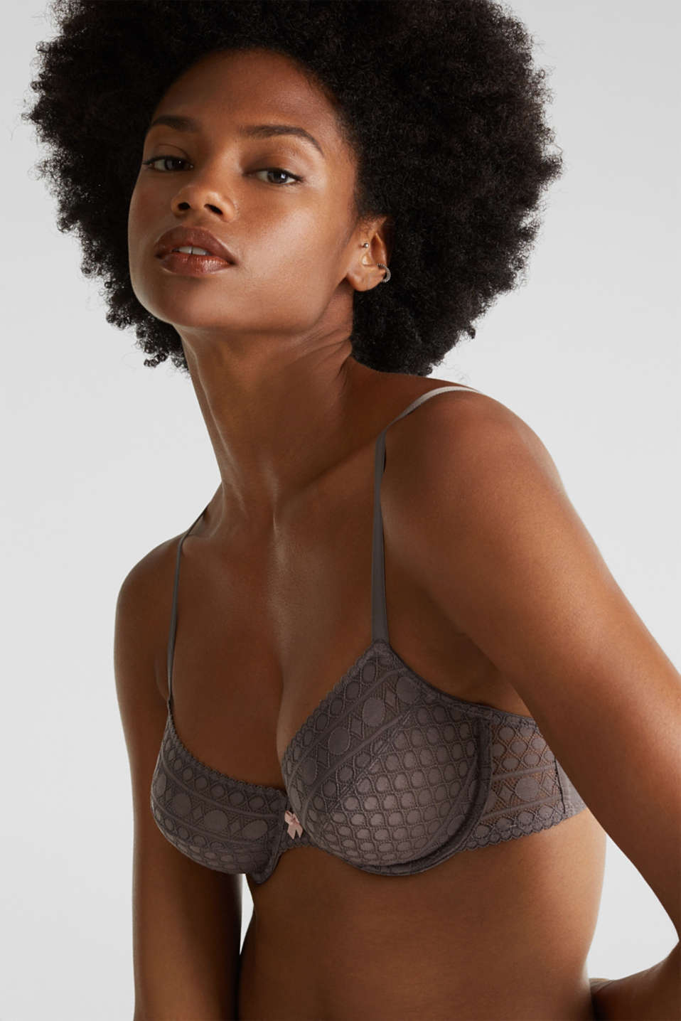 Bras with wire, TAUPE, detail image number 4