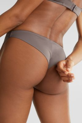 Hipster briefs with graphic lace, TAUPE, detail