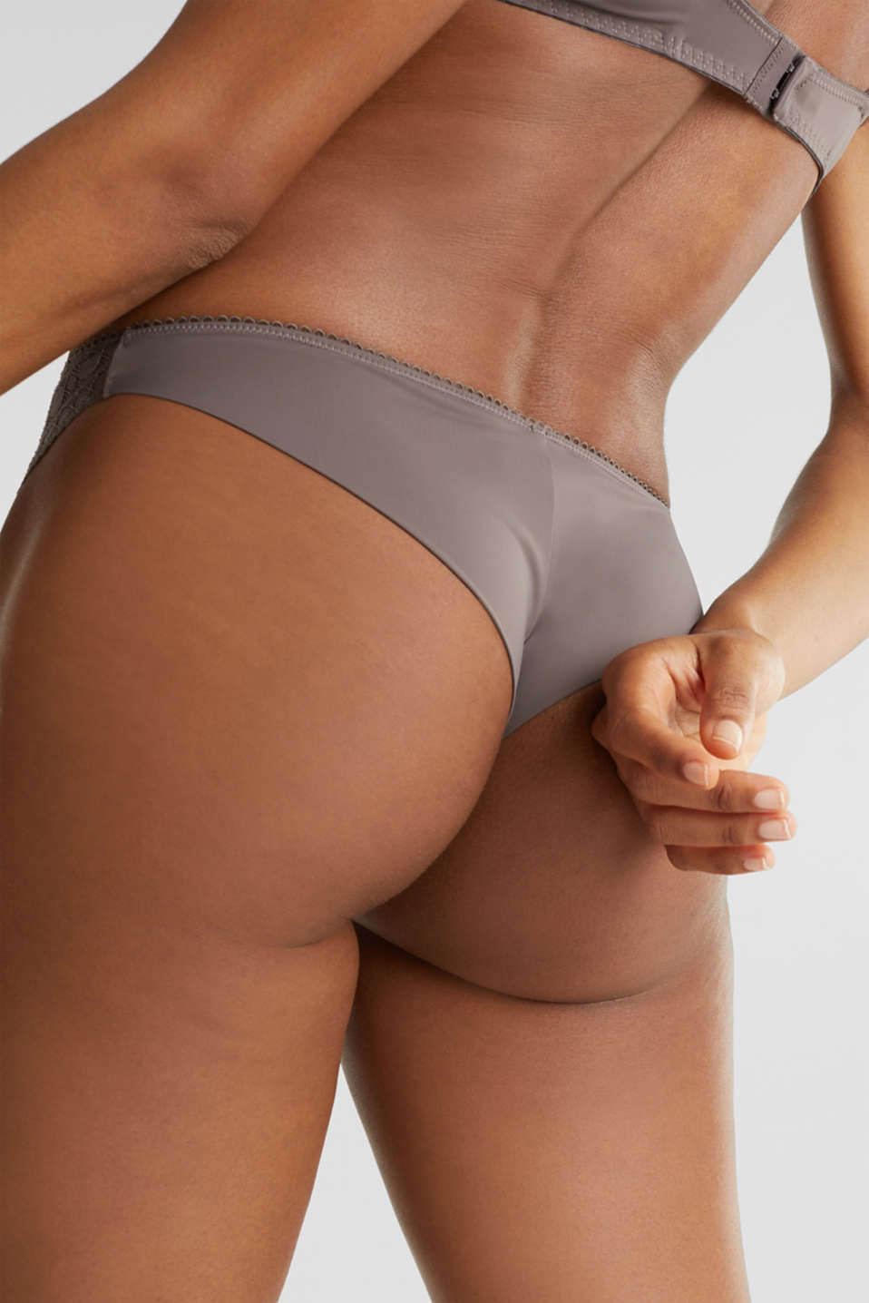 Hipster briefs with graphic lace, TAUPE, detail image number 3